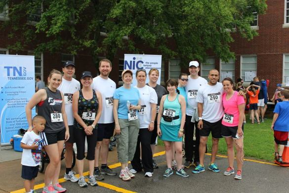 NIC team at the Law Enforcement Memorial 5k