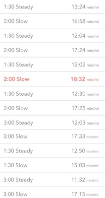 interval workout 1