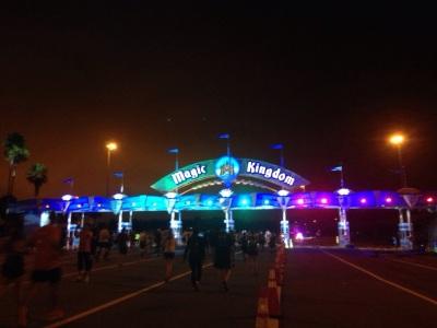 Walt Disney World Half Marathon Magic Kingdom gate