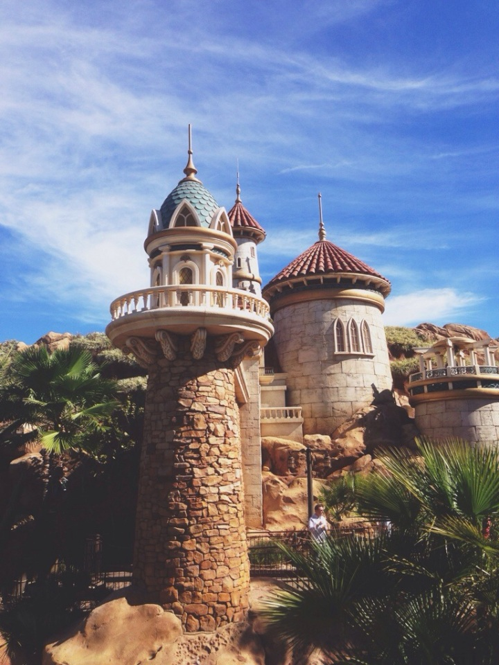 Ariel's castle in new Fantasyland