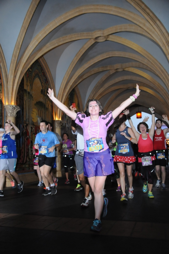 half marathon through cinderella's castle