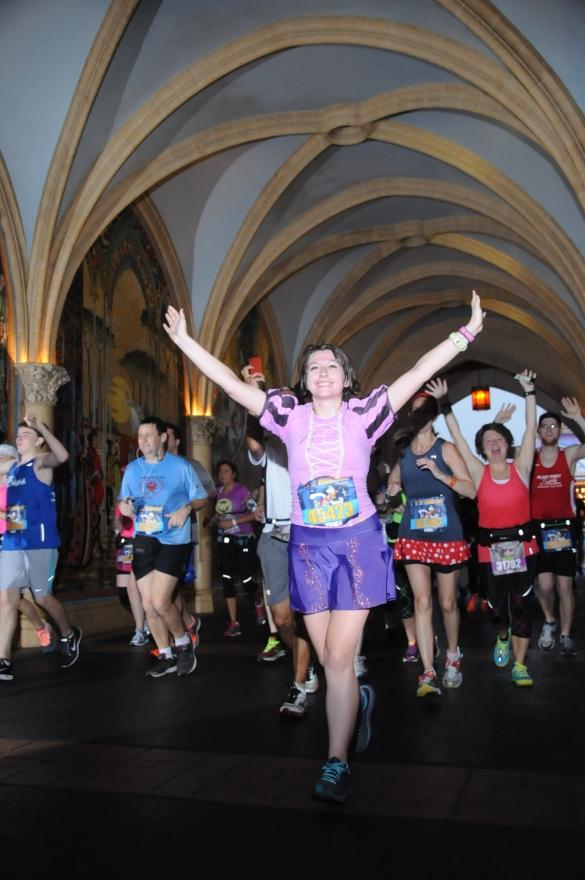 half marathon through cinderella's castle