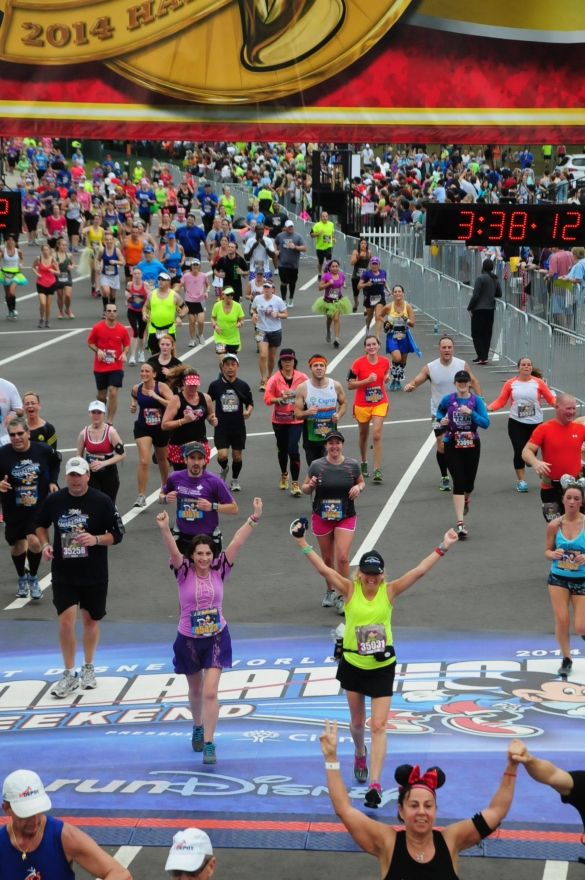 finishing a disney half marathon