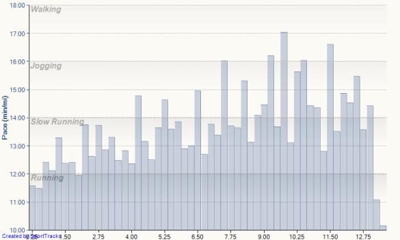 quarter mile half marathon splits