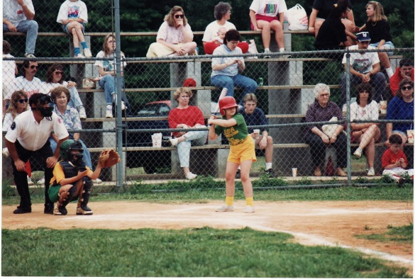 batting in softball