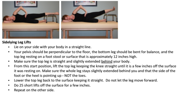 sidelying leg lift exercise