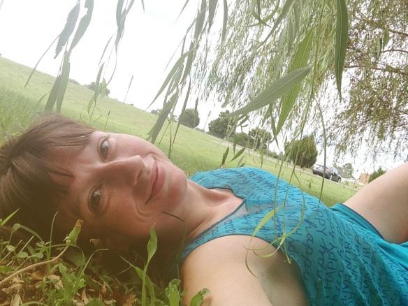 post-running selfie
