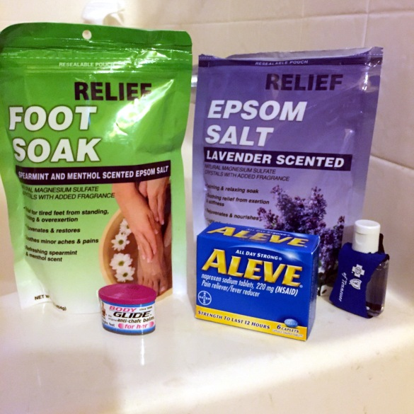 epsom salt and aleve