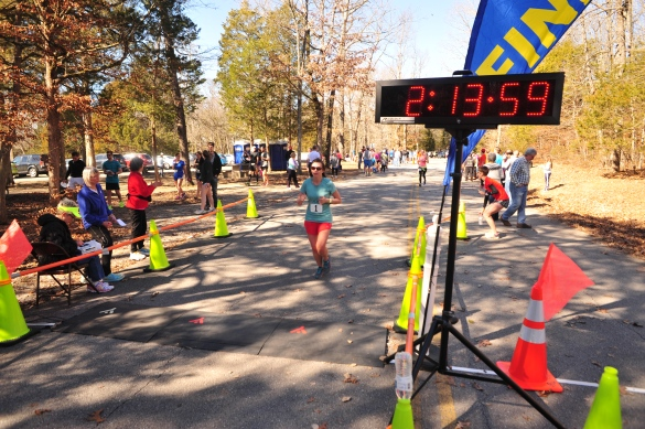 finishing cedars frostbite half marathon