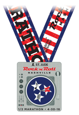 rock 'n' roll nashville half marathon medal